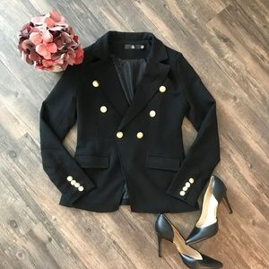 Missguided Military Style Black Blazer
